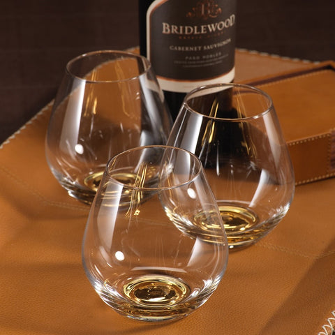 Golden Base Stemless Glass - Set of 4