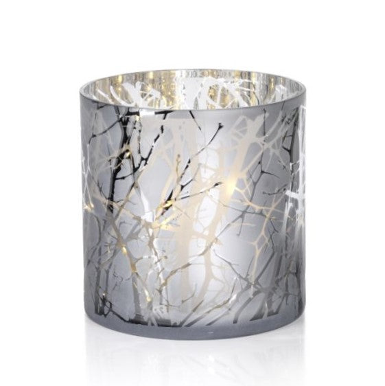 Silver Plated Branch Design LED Glass - CARLYLE AVENUE