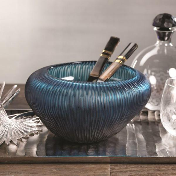 Blue Bay Freeform Glass Bowl - CARLYLE AVENUE