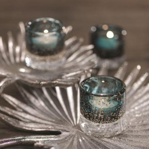 Lagoon Glass Tealight Holder - Set of 6