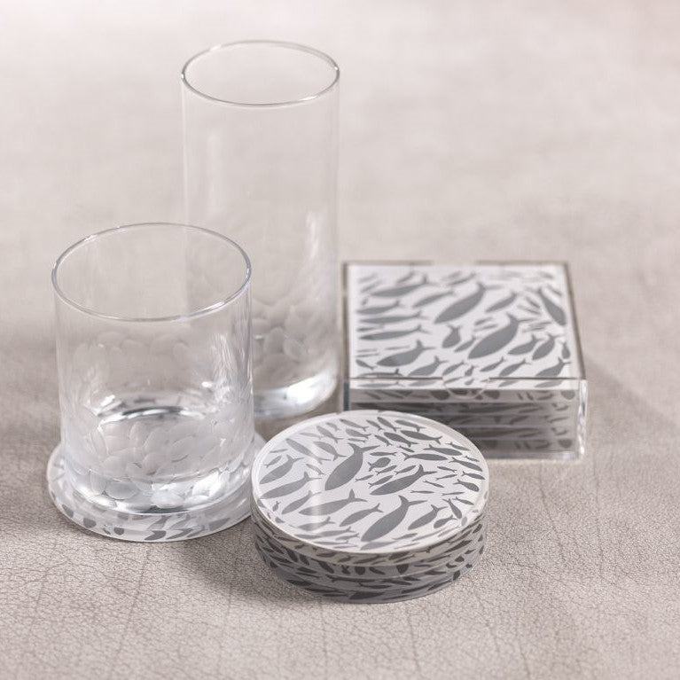 School of Fish Coasters + Holder