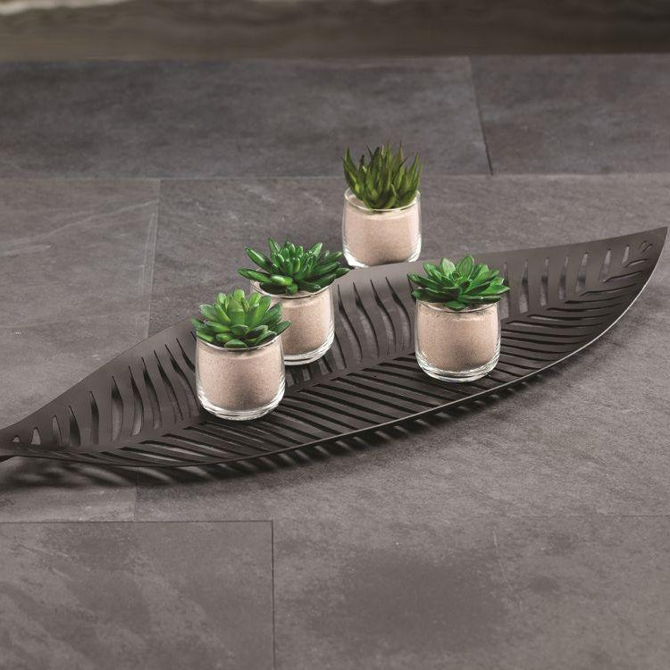 Palm Desert Black Leaf Tray
