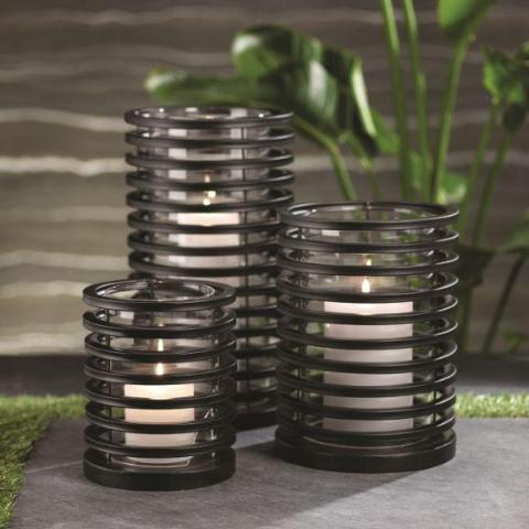 Palm Desert Black Ring Lantern