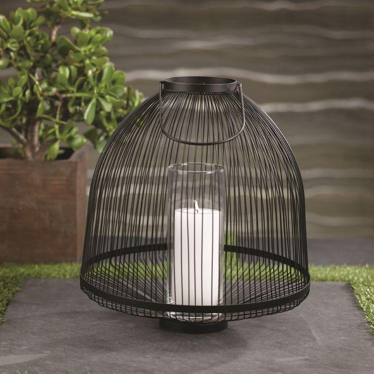 Palm Desert Black Wire Lantern - CARLYLE AVENUE