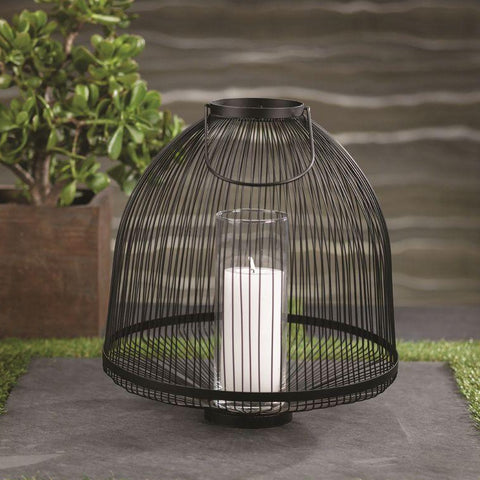 Palm Desert Black Wire Lantern