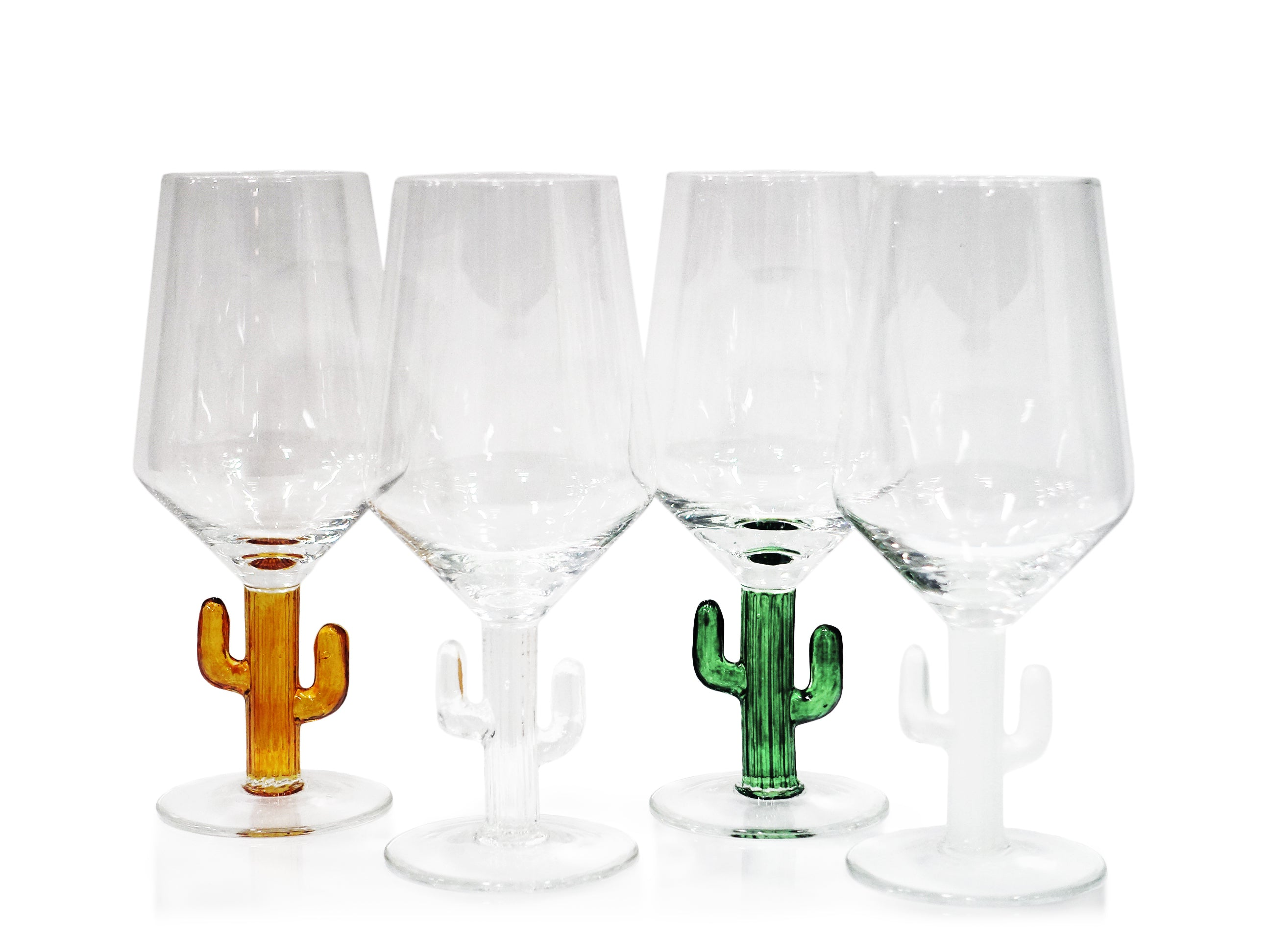 Cabo Cactus Wine Glass - Set of 4 - CARLYLE AVENUE