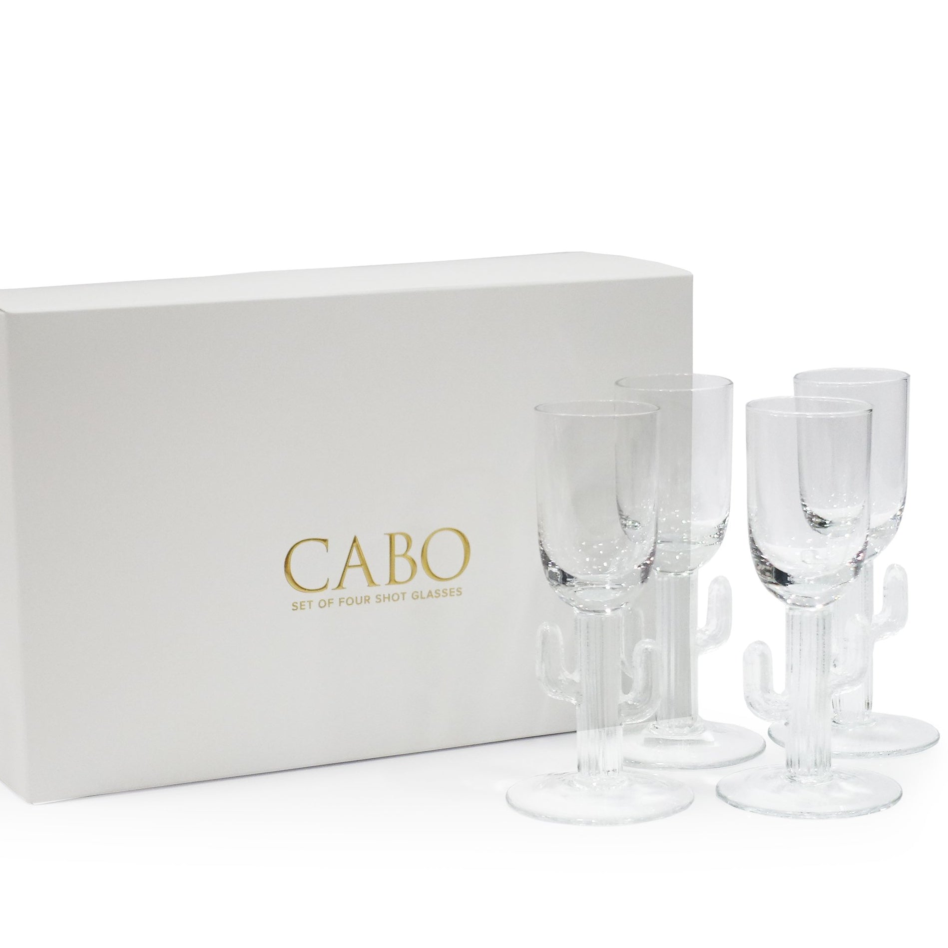 S/4 Cabo Cactus Shot Glass in Gift Box - CARLYLE AVENUE