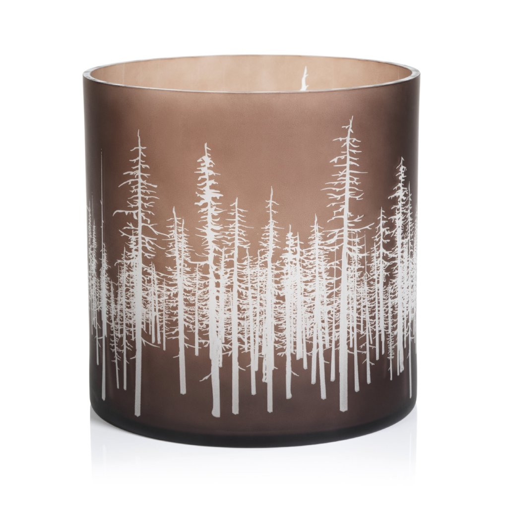 Birch Etched LED Hurricane - CARLYLE AVENUE