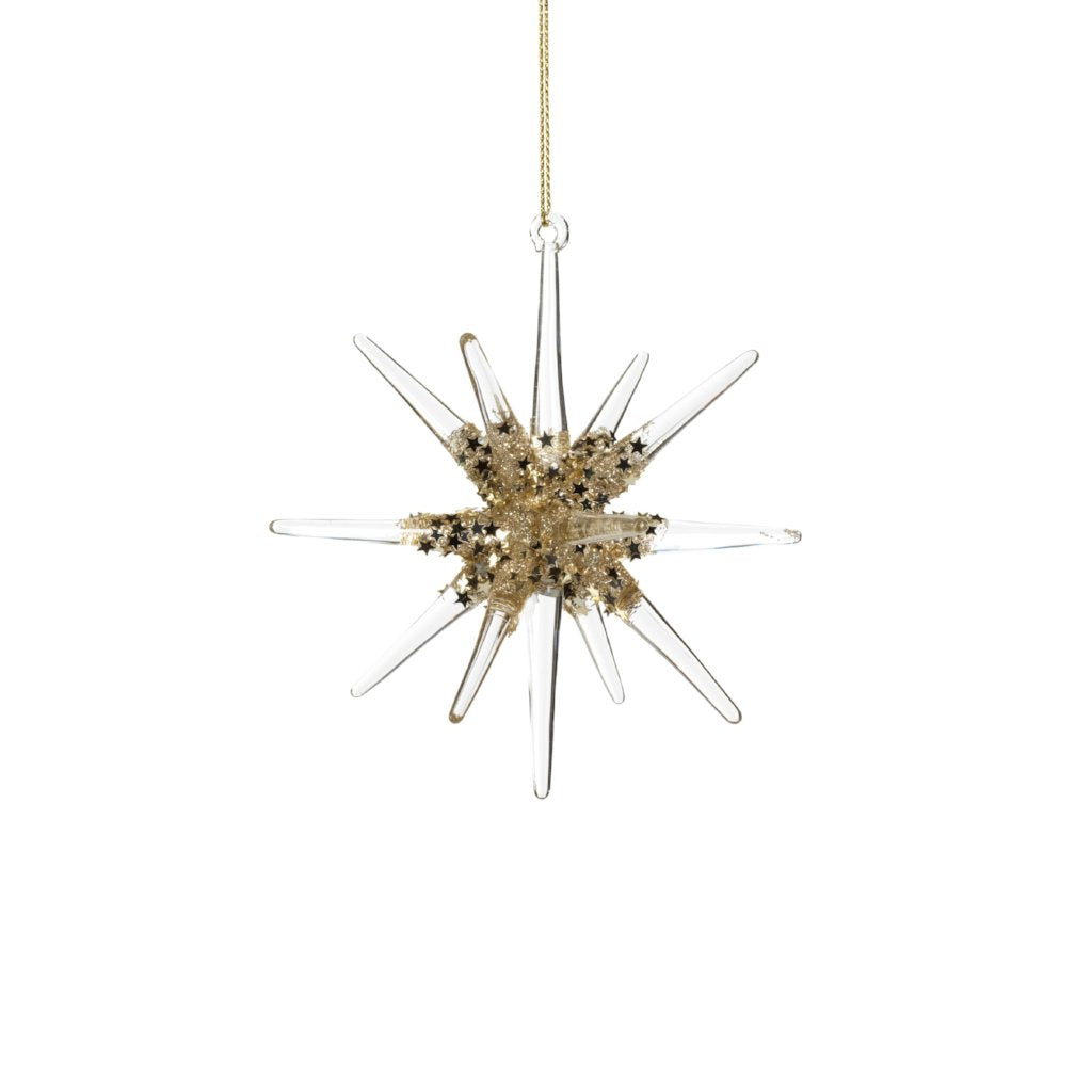 Glass 3D Snowflake Ornament - CARLYLE AVENUE