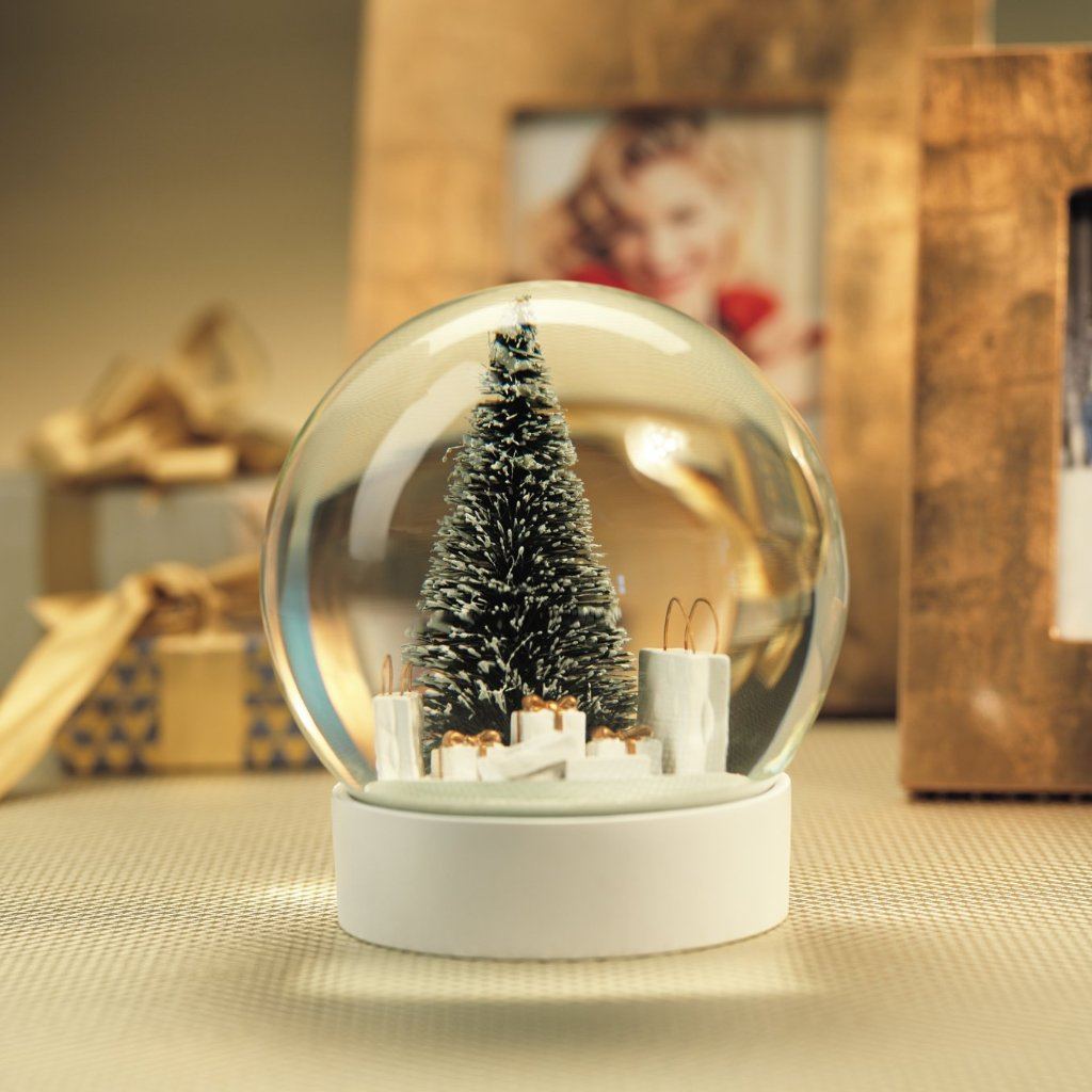 Snow Globe w/ Pine Needle Tree & Gift Bags - CARLYLE AVENUE