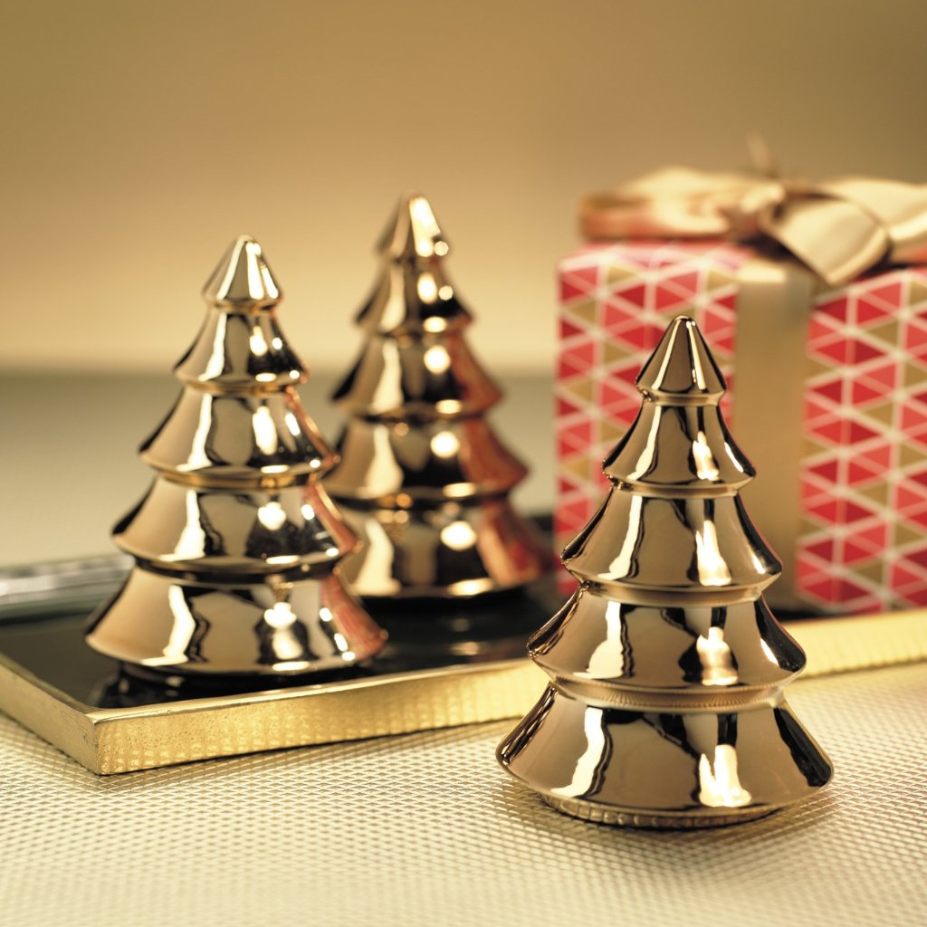 Gold Metallic Tree - Set of 2 - CARLYLE AVENUE