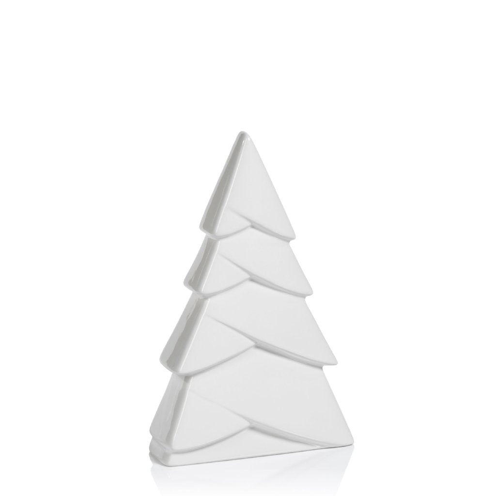 White Ceramic Snow Tree - CARLYLE AVENUE