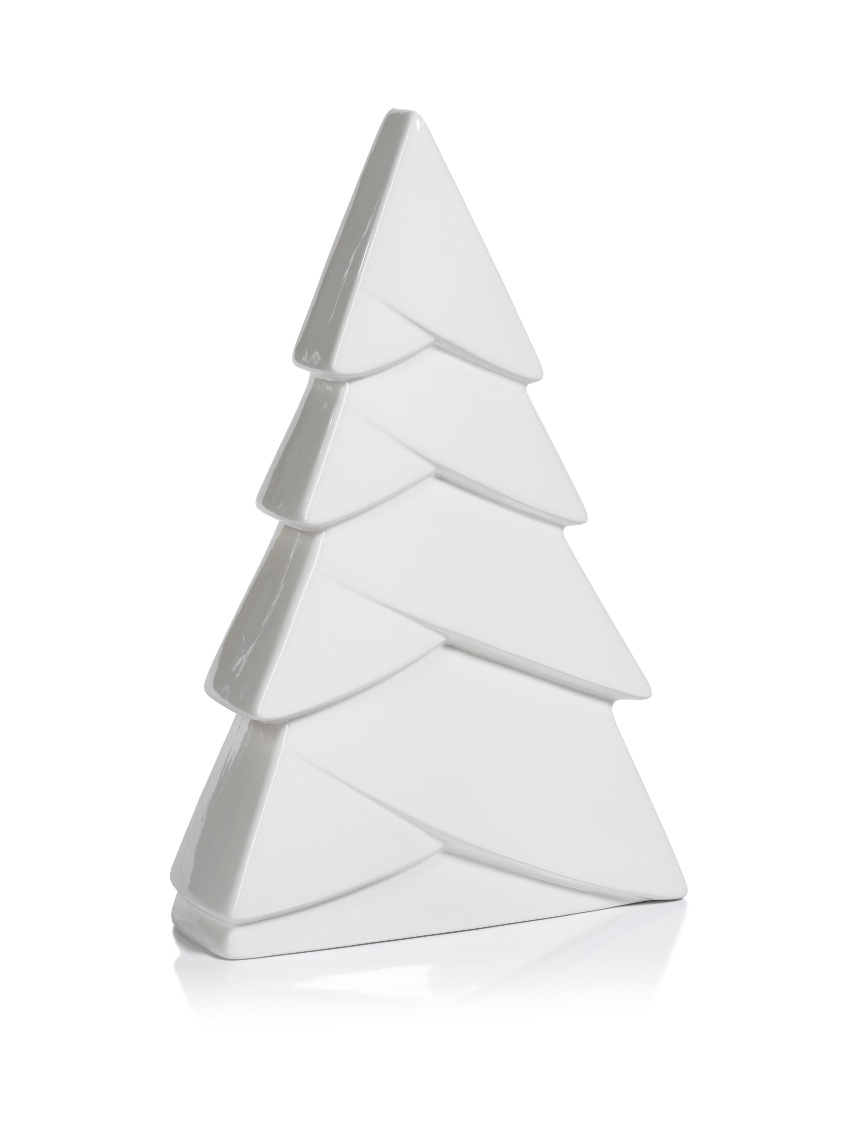 White Ceramic Snow Tree