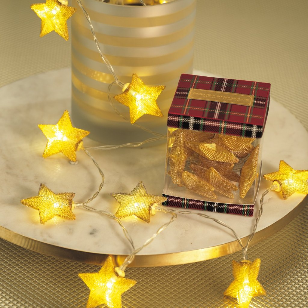 Golden Star String Lights - CARLYLE AVENUE