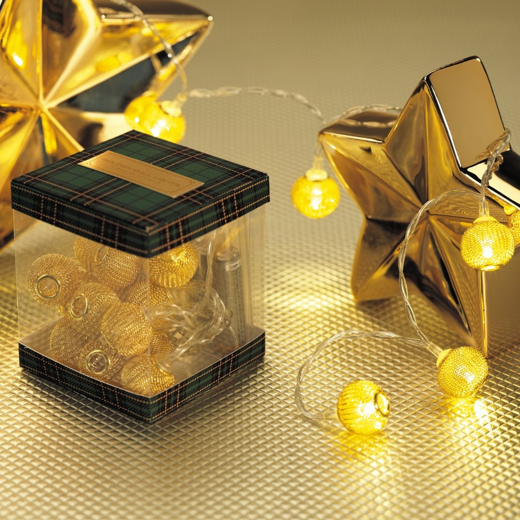 Golden Ball String Lights - CARLYLE AVENUE