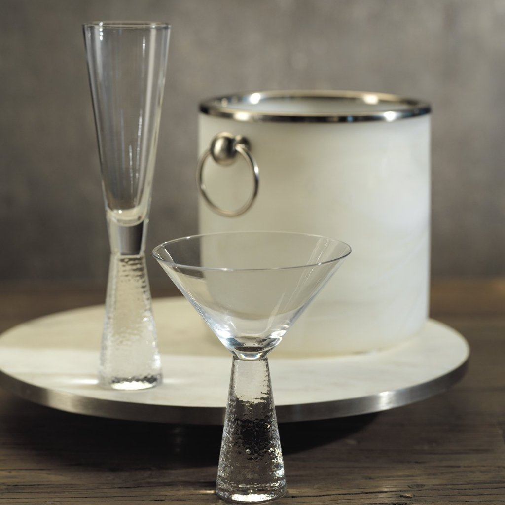 Livogno Hammered Stem Drinkware - CARLYLE AVENUE