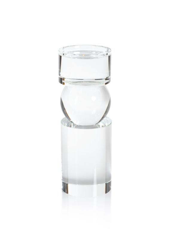 Rialto Clear Crystal Pillar Holder - CARLYLE AVENUE