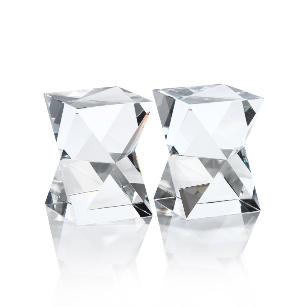 Nadia Crystal Bookends Pair
