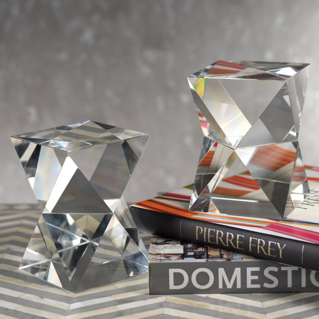 Nadia Crystal Bookends Pair - CARLYLE AVENUE