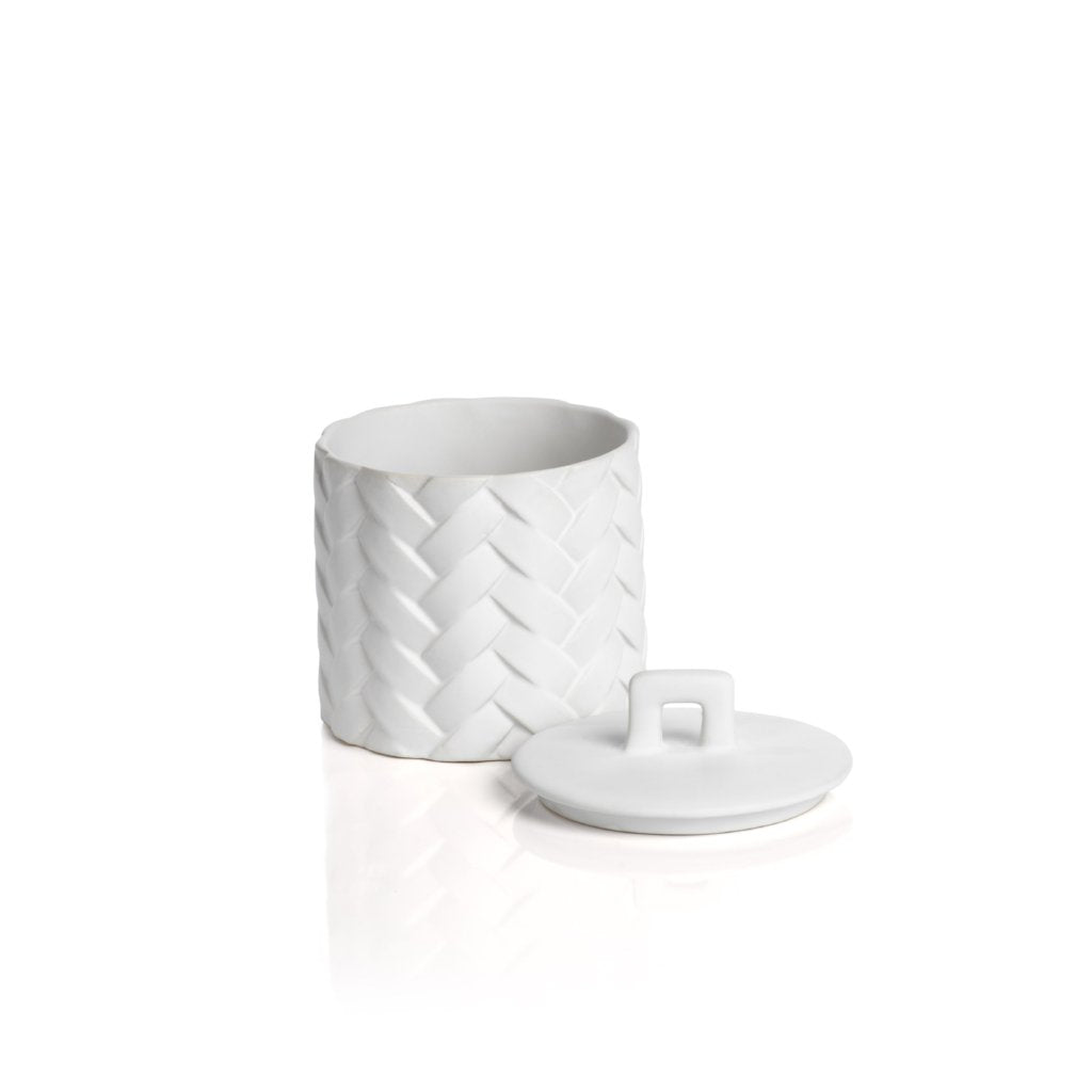 Woven Ceramic Canister - White - CARLYLE AVENUE