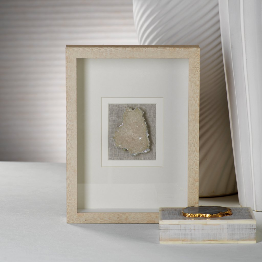 Natural Framed Crystal - CARLYLE AVENUE
