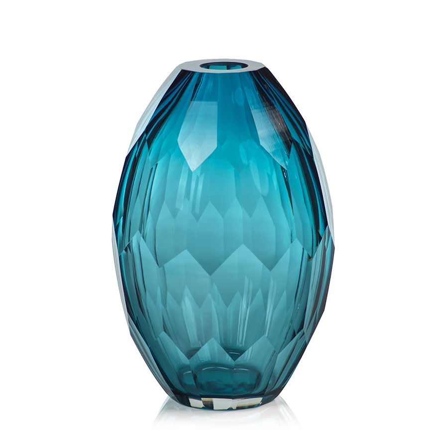 Maya Hand Cut Glass Vases