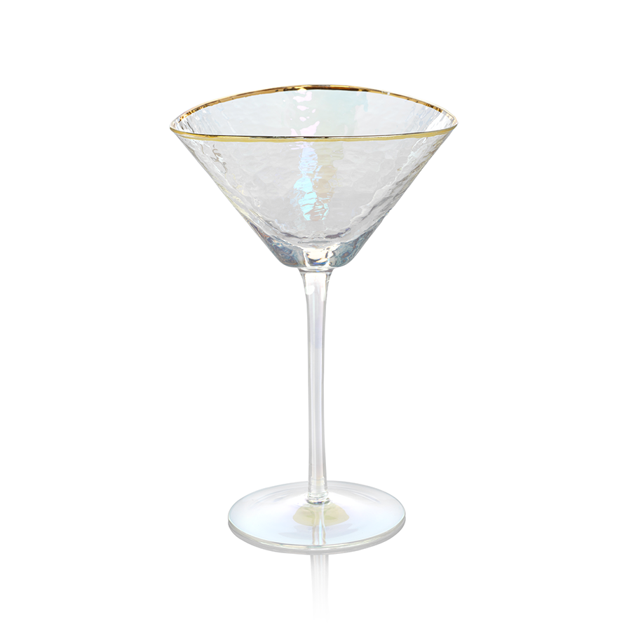 Aperitivo Triangular Stemware - Luster with Gold Rim