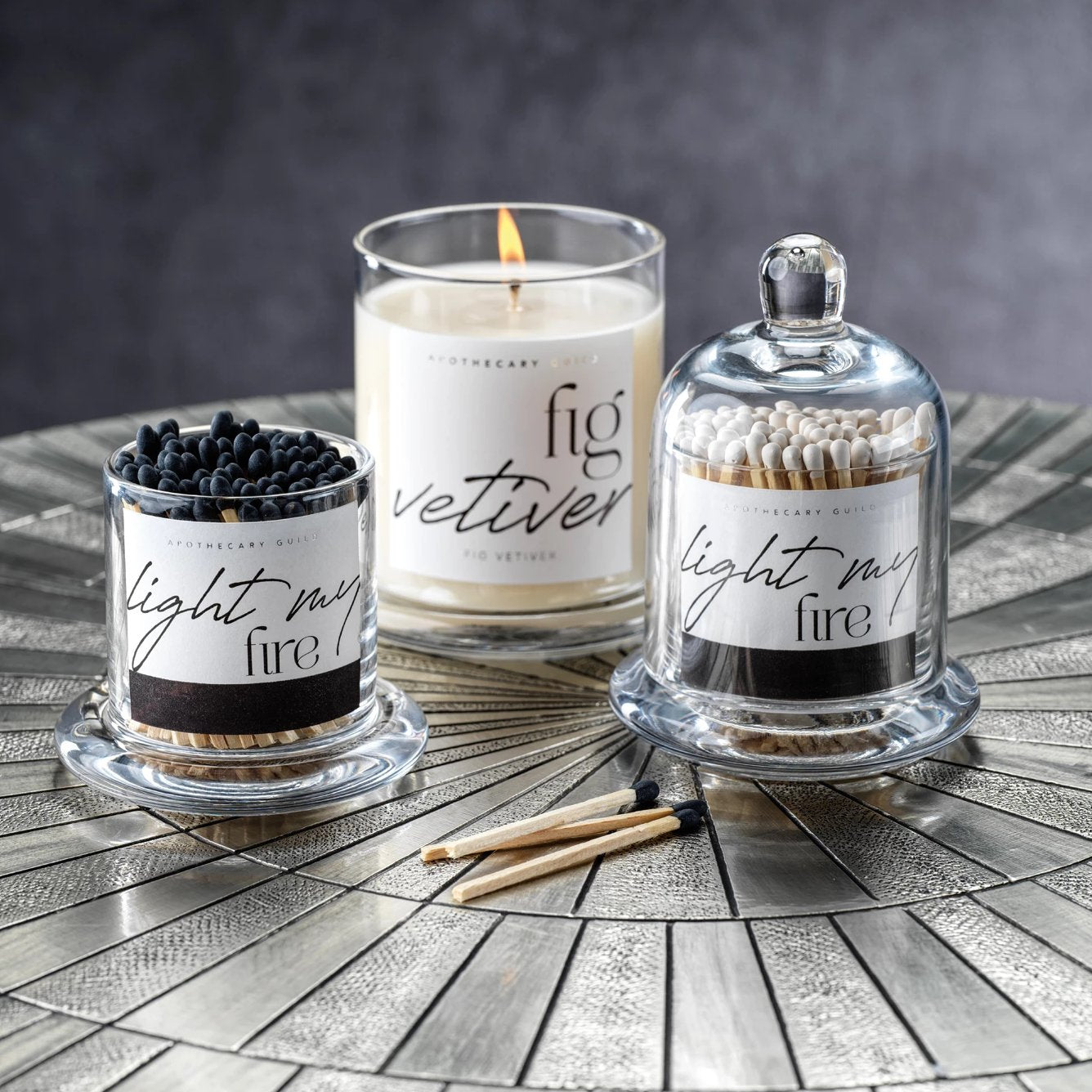 Light My Fire Matches - Apothecary Jar - CARLYLE AVENUE