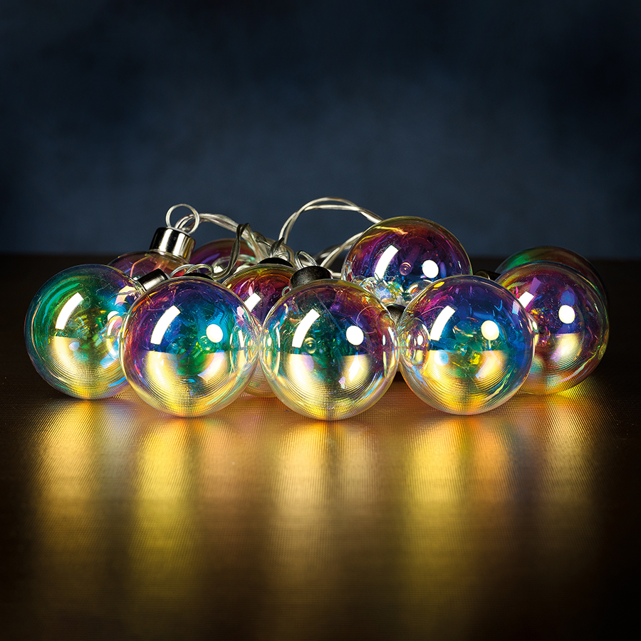 Set of 10 Rainbow LED String Lights in Box
