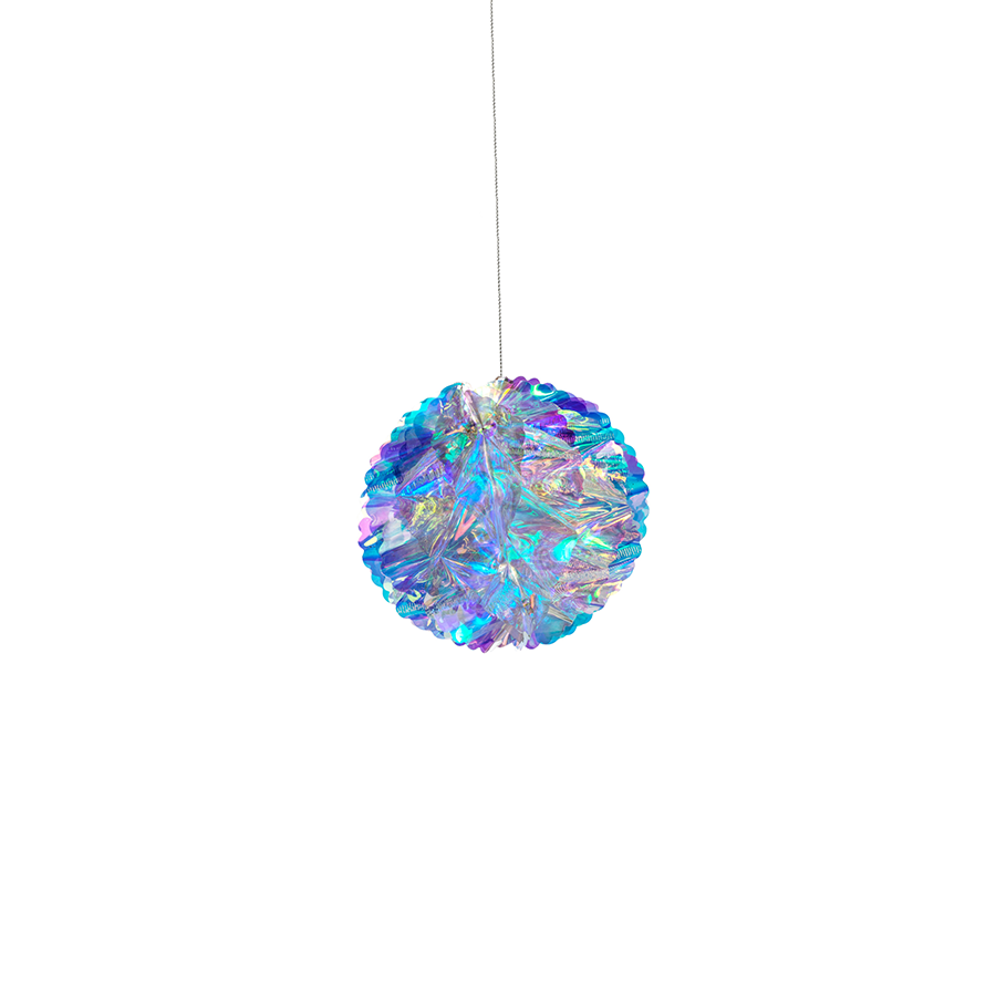 Wish Iridescent Decoration Ball Ornament - Rainbow