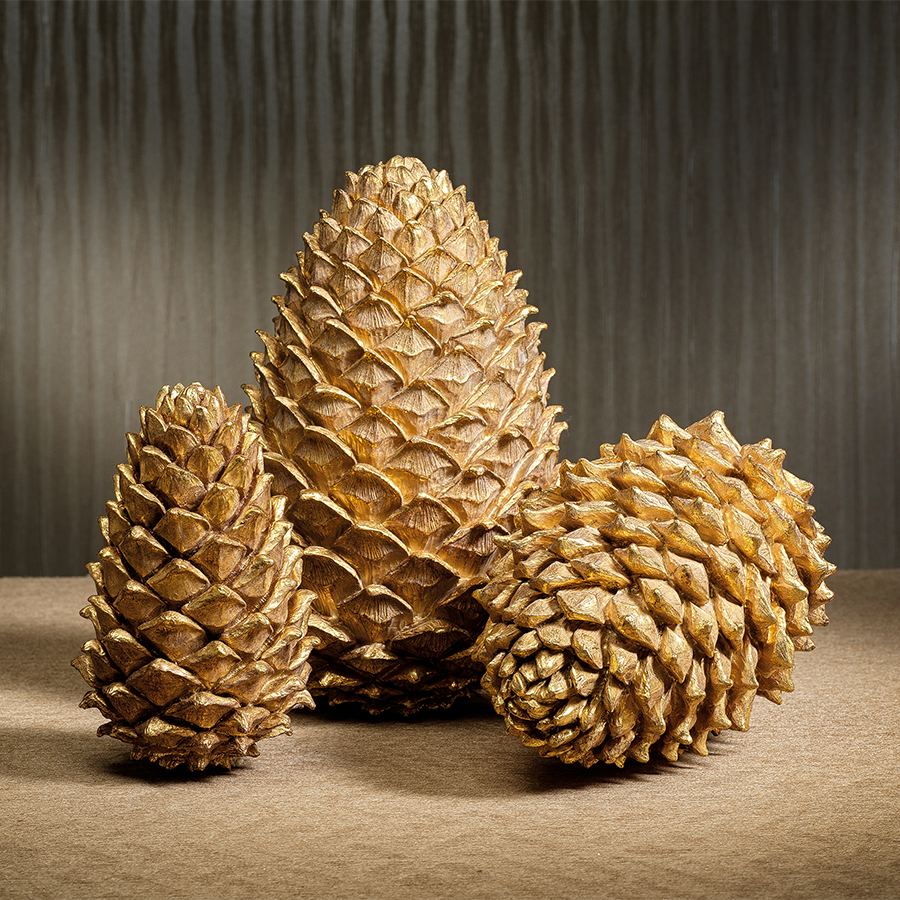 Golden Decorative Pine Cone