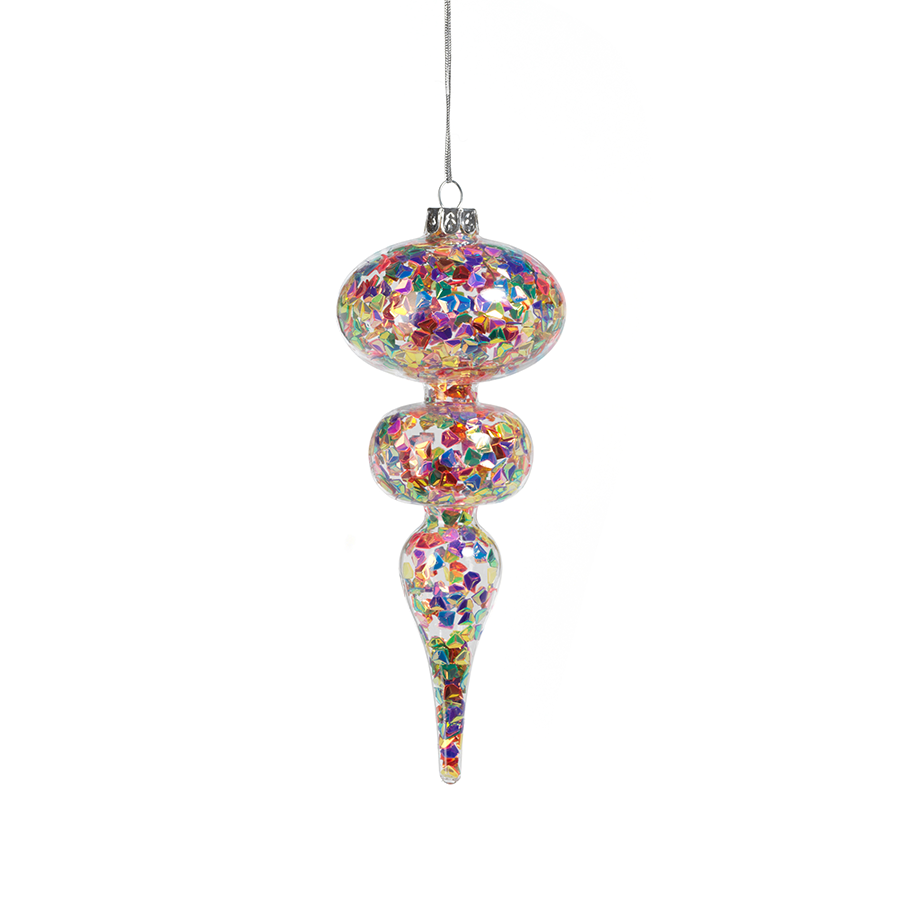 Multicolor Sequin Ornament - Set of 4