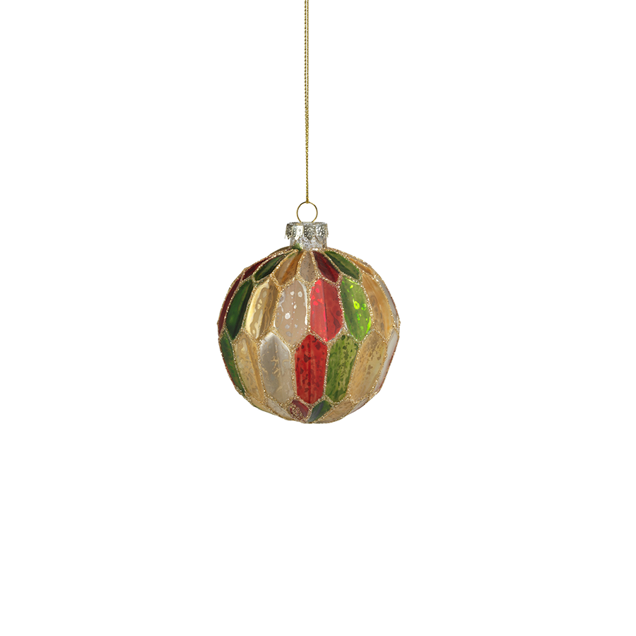Multicolor Glass Ball Ornament