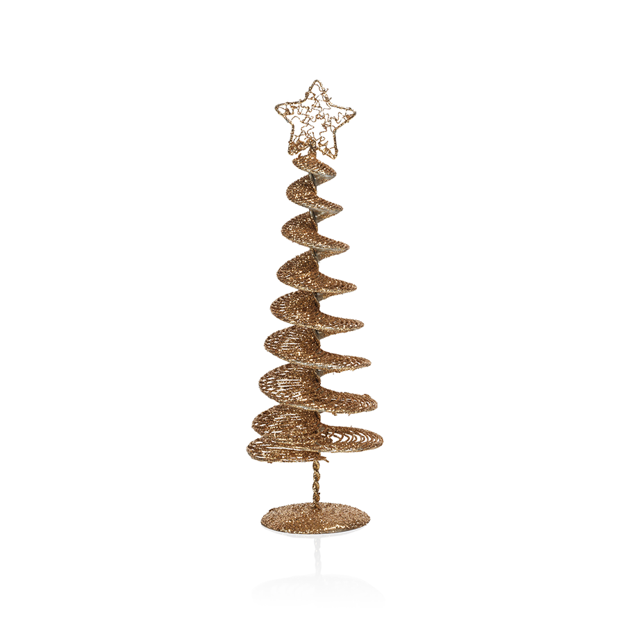 Swirl Wire Tree - Gold