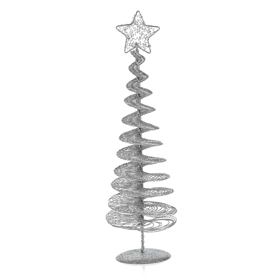 Swirl Wire Tree - Silver