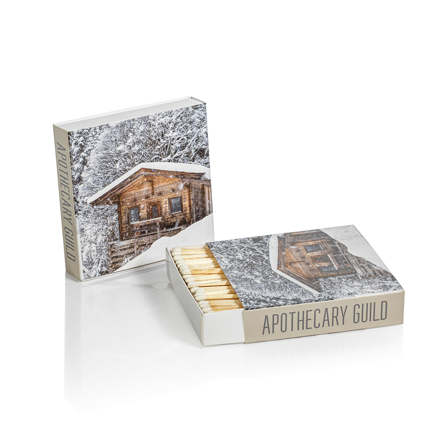 Matches - Chalet & Deer in the Snow - Set of 2