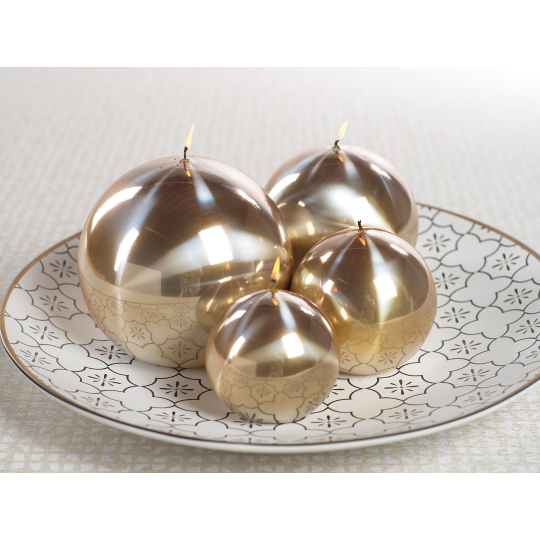 Titanium Ball Candle - Gold - CARLYLE AVENUE