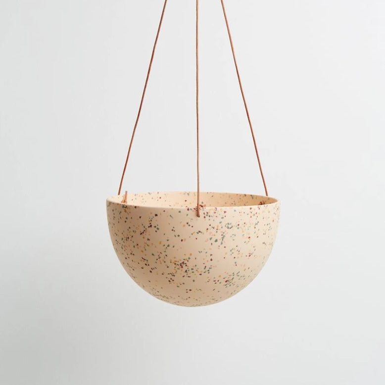 Large Dome Hanging Pot - Terazzo Salt