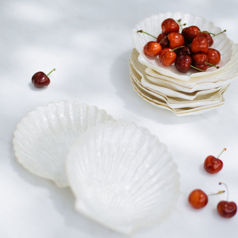 Capiz Shell Plates - Set of 10
