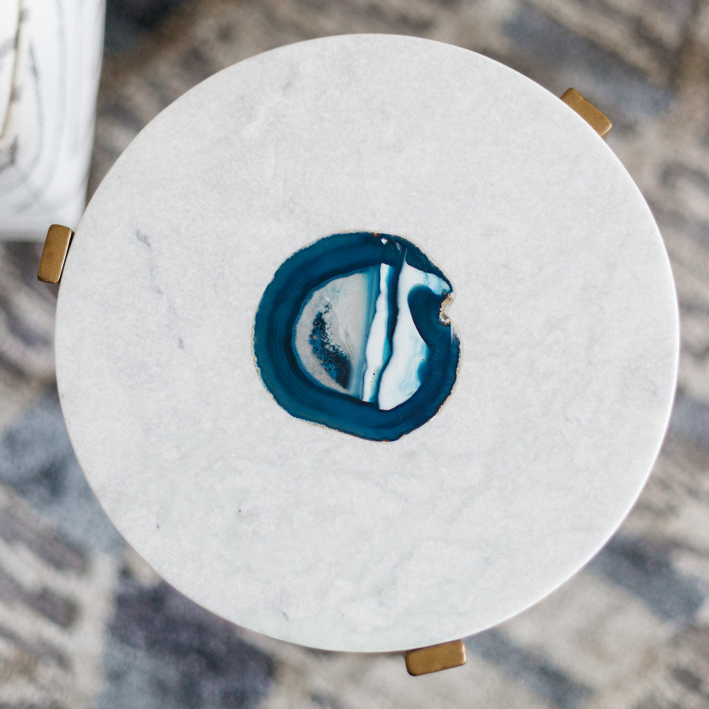 Caspian Agate and Marble Inlay Table - CARLYLE AVENUE