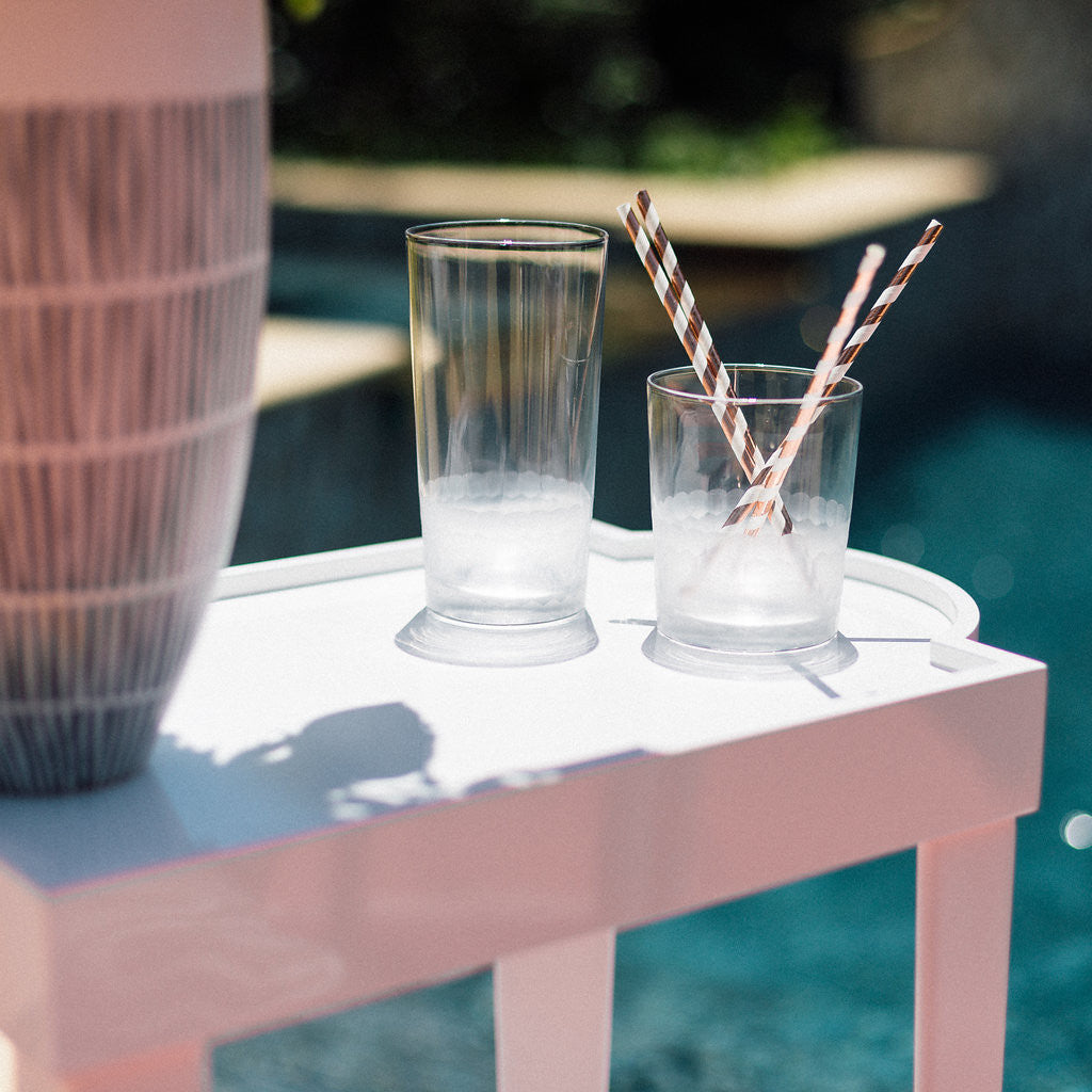 Fez Cut Frosted Glassware - CARLYLE AVENUE