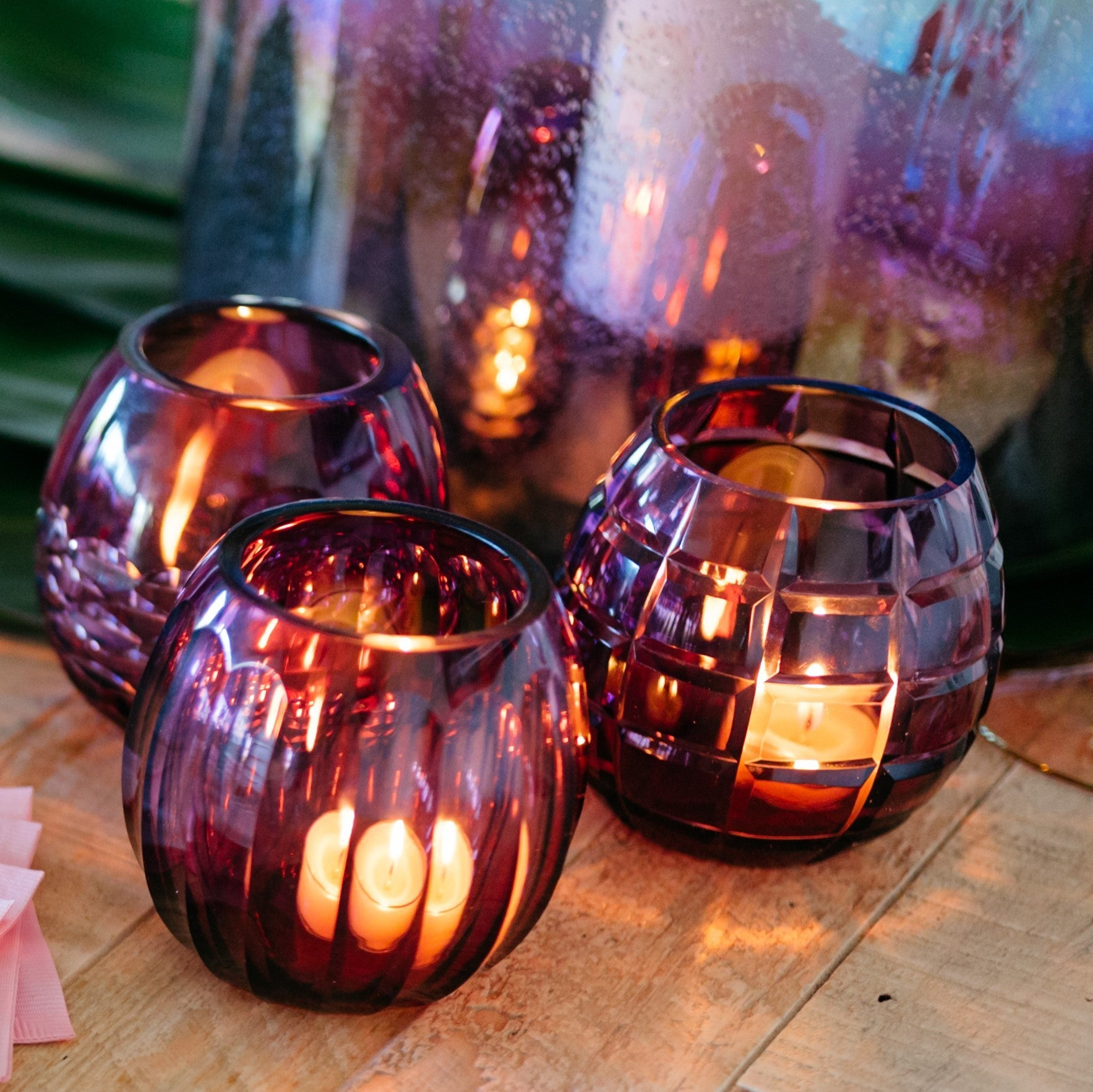 Taza Cut Glass Vase / Tealight Holder