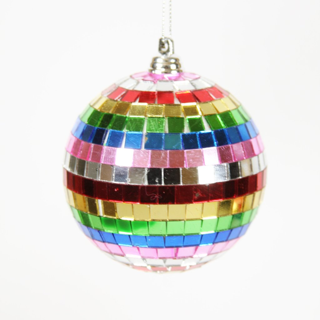 Rainbow Spectrum Disco Ball Ornaments