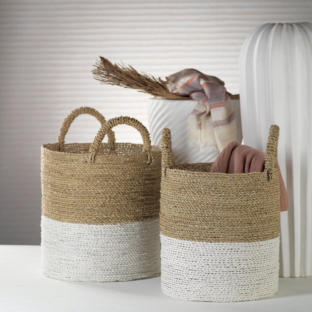 Oia Set of 3 Seagrass Baskets - CARLYLE AVENUE