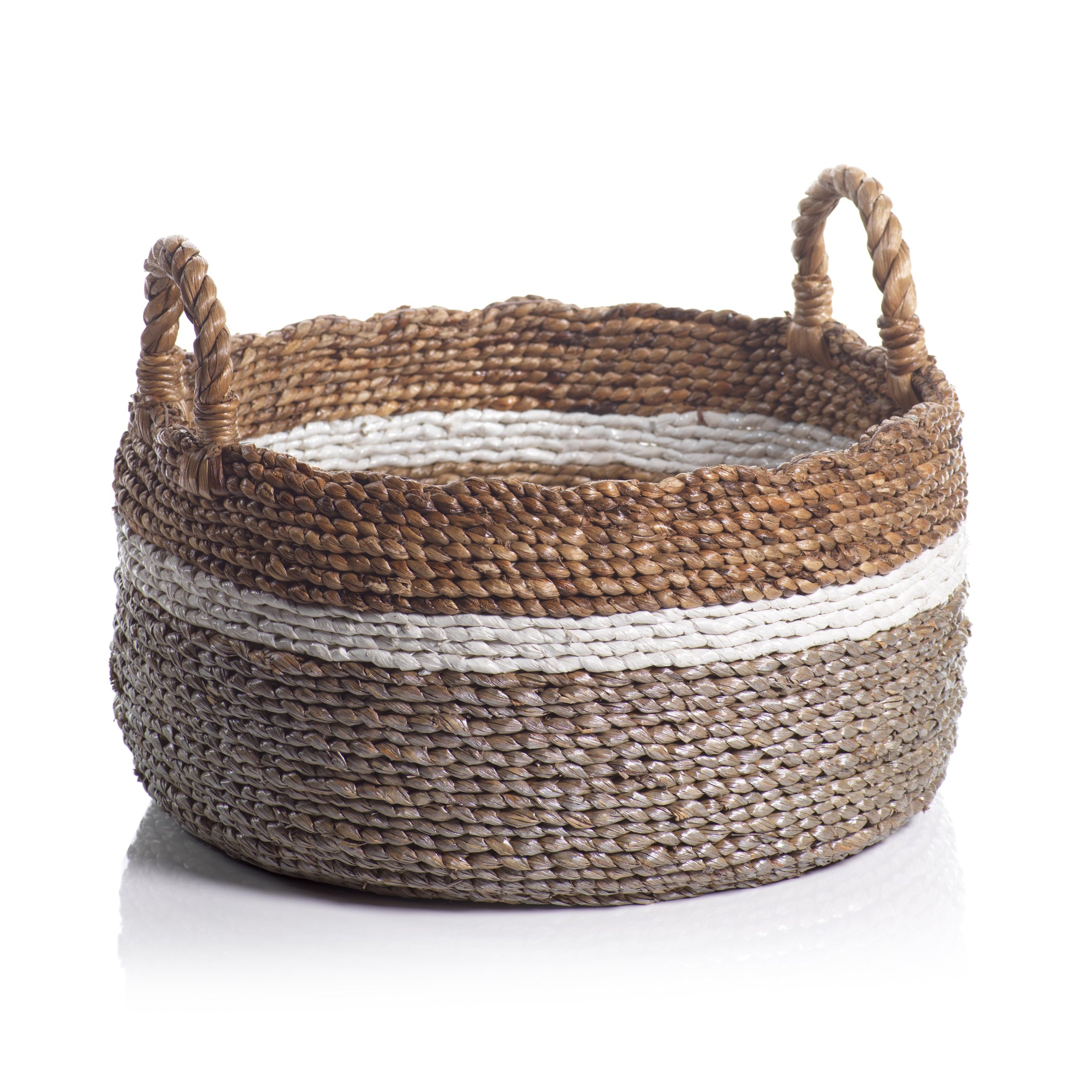 Fira Set of 2 Assorted Seagrass & Water Hyacinth Baskets - CARLYLE AVENUE