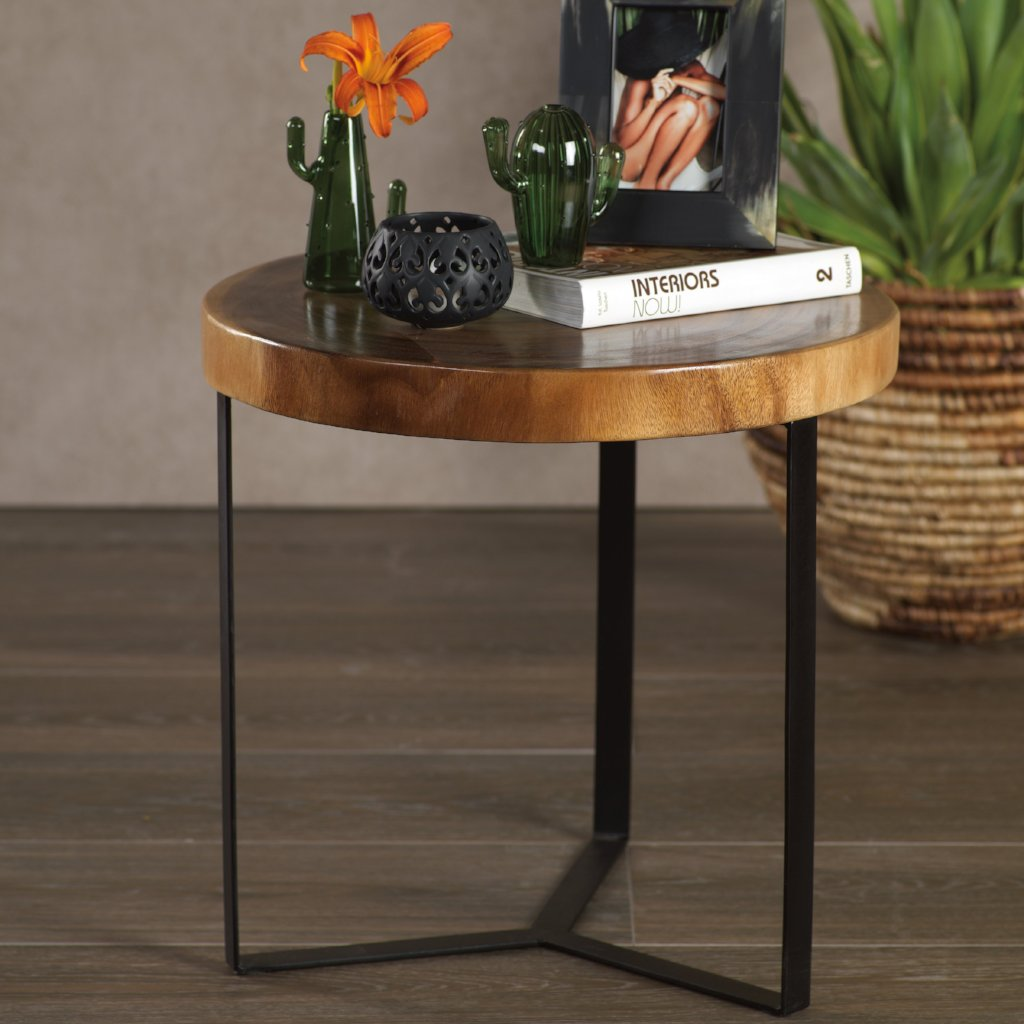 Matina Suar Wood Accent Table - CARLYLE AVENUE