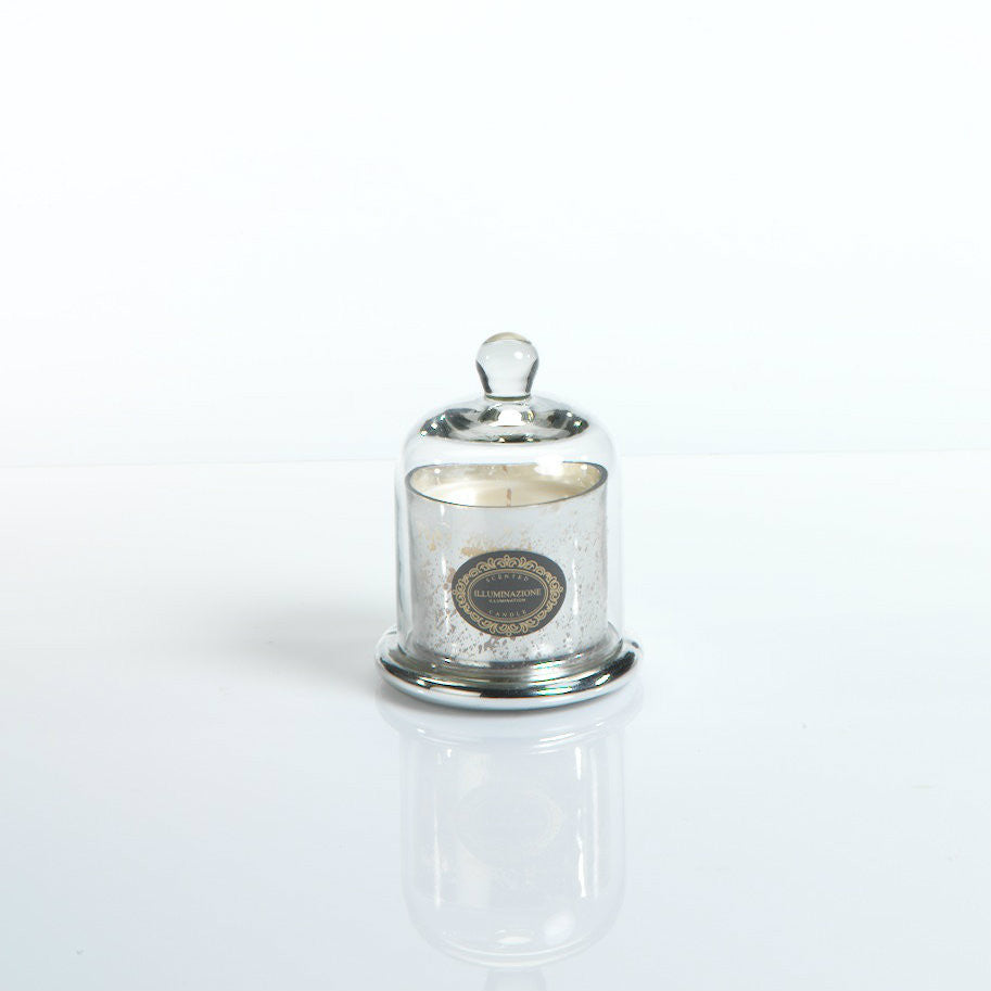 Illuminazione Candle with Glass Dome - Silver - Small - CARLYLE AVENUE - 2