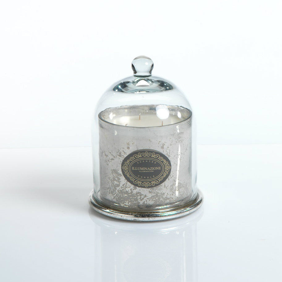 Illuminazione Candle with Glass Dome - Silver - CARLYLE AVENUE