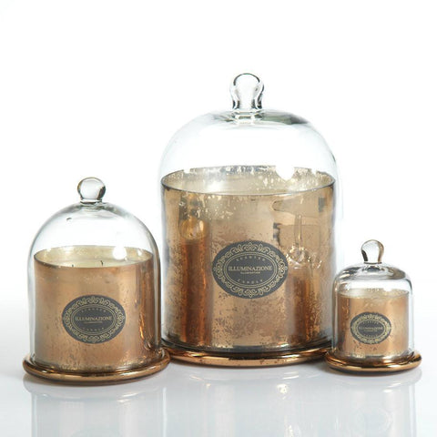 Illuminazione Candle with Glass Dome - Gold