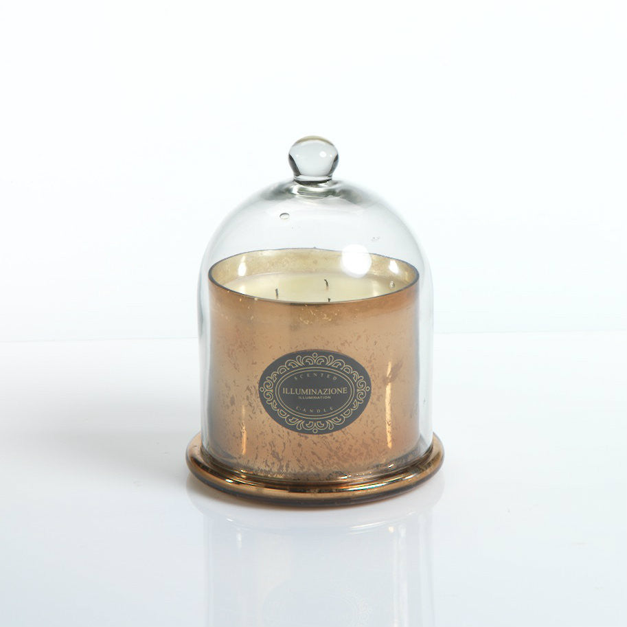 Illuminazione Candle with Glass Dome - Gold - CARLYLE AVENUE